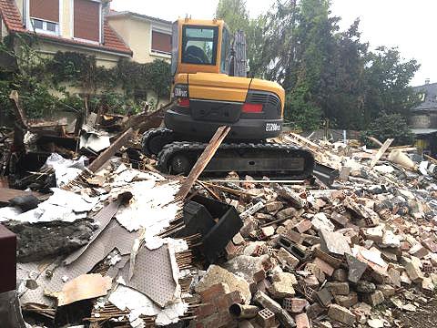 grue de chantier et évacuation de gravats à Pontault (77)