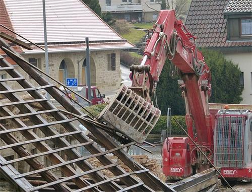 Travaux démolition et évacuation de gravats